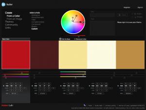 Adobe kuler Farbänderung