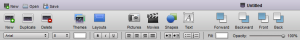 Screenshot Toolbar der Anwendung 280 Slides