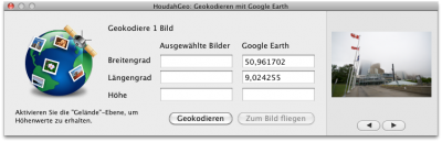 Geotagging mit Google Earth
