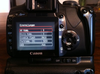 Firmware-Hack 400plus für Canon EOS 400D