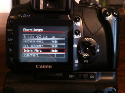 Funktionen Firmware-Hack Canon EOS 400D