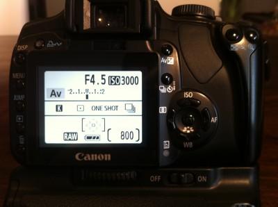 Canon EOS 400D mit ISO 3000