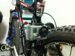 Montage der GoPro HD HERO2 am Mountainbike