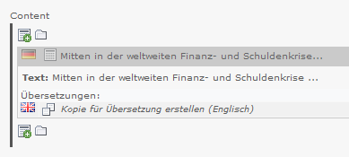 Inhaltselemente übersetzen in TYPO3